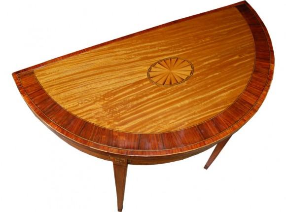 Satinwood Card Table