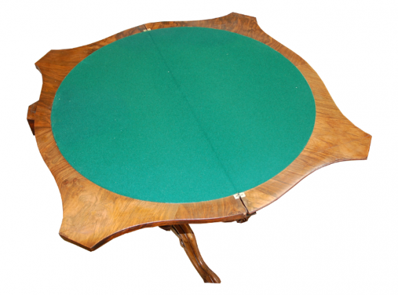 Walnut card table – replacement baize
