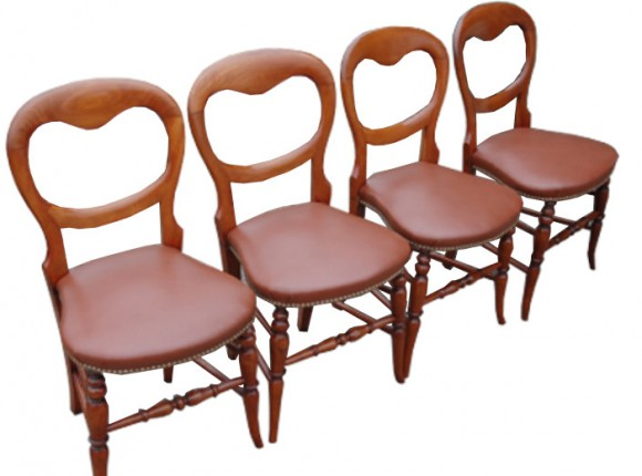 Balloon back chairs restored and upholstered