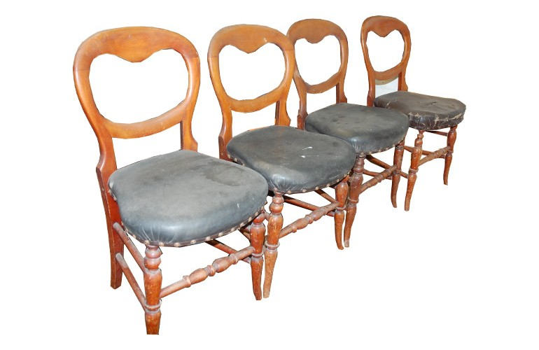 The chairs in their original condition