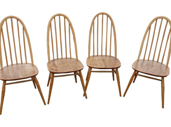 Set of 4 1960's Ercol chairs