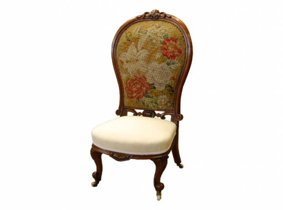 Victorian spoon back 'ladies chair'