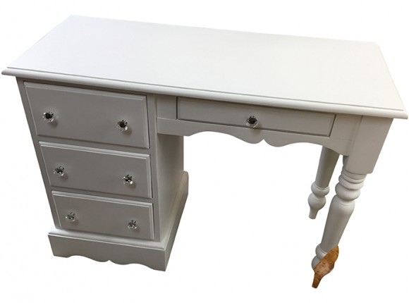 Pine dressing table with painted finish